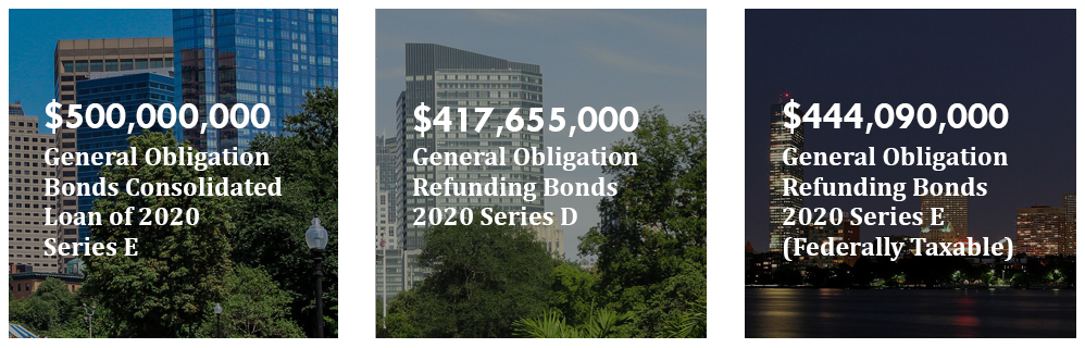 Image 1: $500,000,000 General Obligation Bonds Consolidated Loan of 2020,  Series E, Image 2: $417,655,000 General Obligation Refunding Bonds 2020 Series D, Image 3:$444,090,000 General Obligation Refunding Bonds 2020 Series E (Federally Taxable)